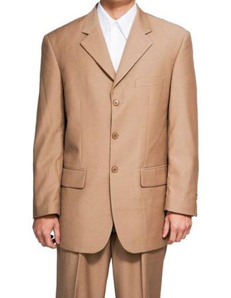 Suit Khaki Blazer Notch