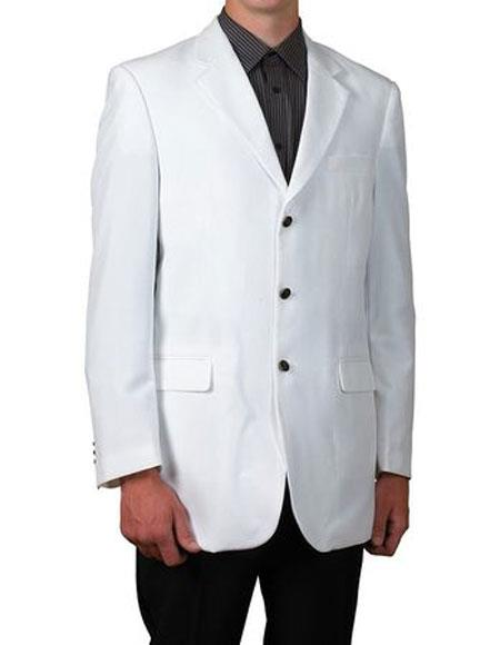 Suit White Single Breasted