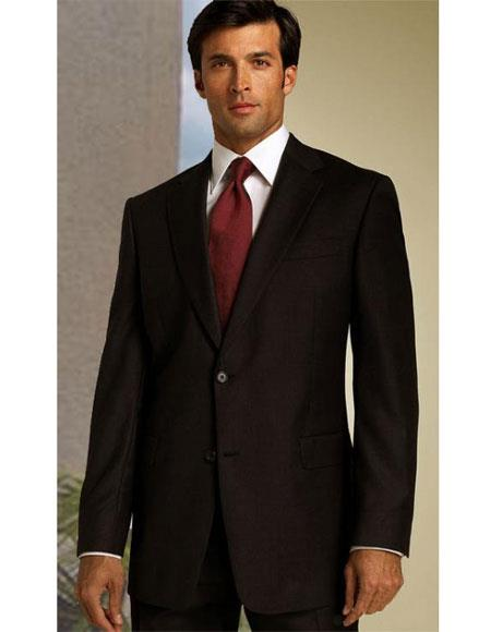 Brown Discounted Cheap Priced Classic Relax Fit Suit