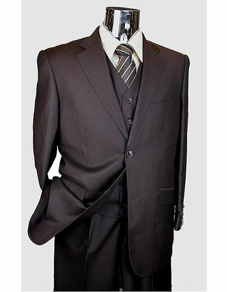 Classic Brown Suits Mens