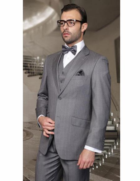 Classic Suits Mens Gray