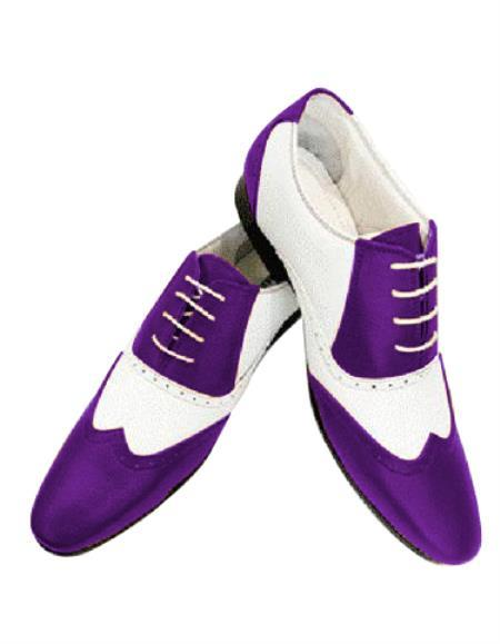 purple wingtip mobster dress