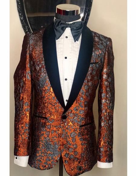 Mens Single Breasted Bronze Shawl Black Lapel Designer Casual Cheap Priced Fashion Blazer Dress Jacket