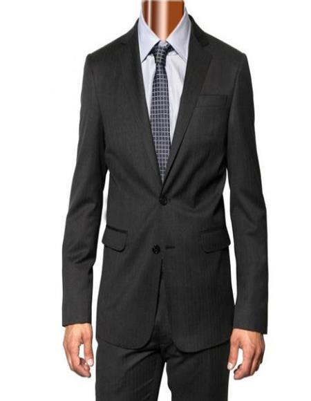 Tonal Stripe Slim Suit