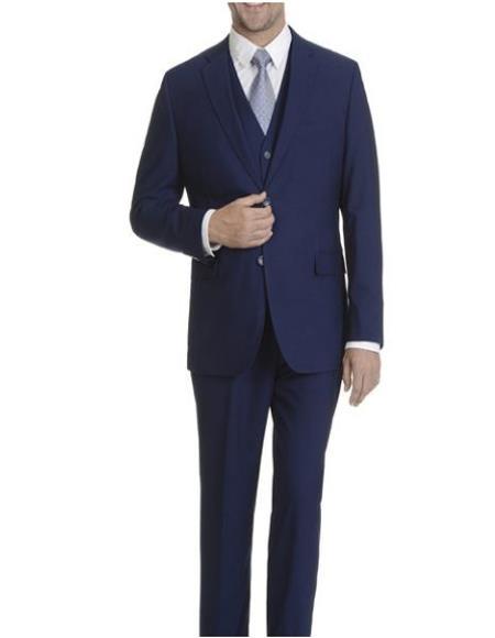 Cobalt Vested Slim Suit