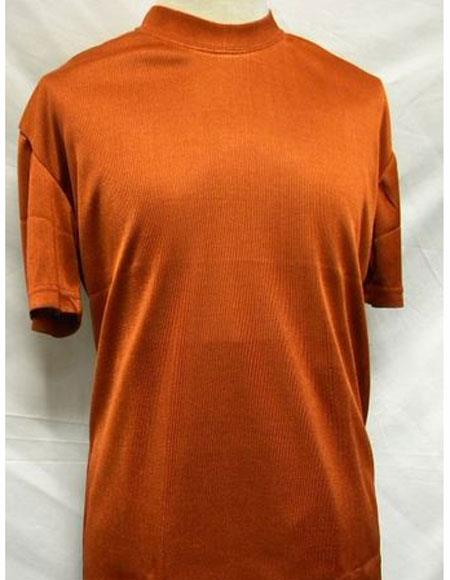 Neck Shirts Rust
