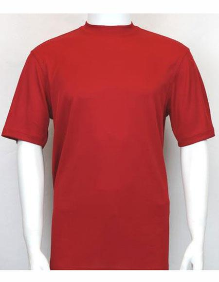 Neck Shirts Red