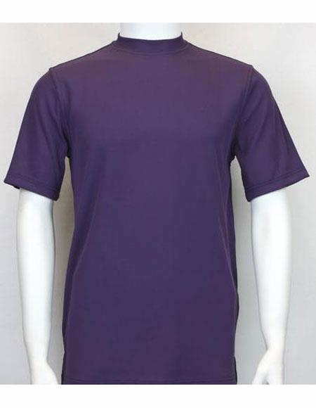 Neck Shirts purple