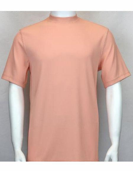 Neck Shirts Peach