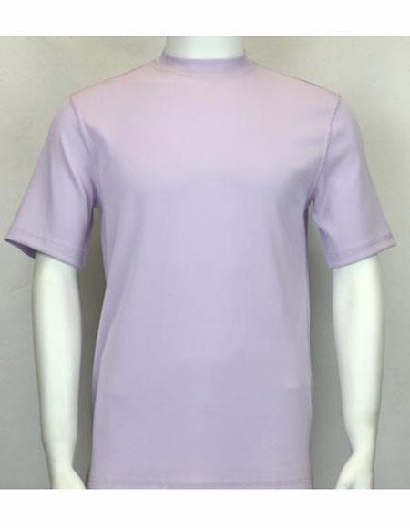 Neck Shirts Lilac