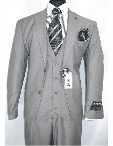Breasted Gray Notch Lapel