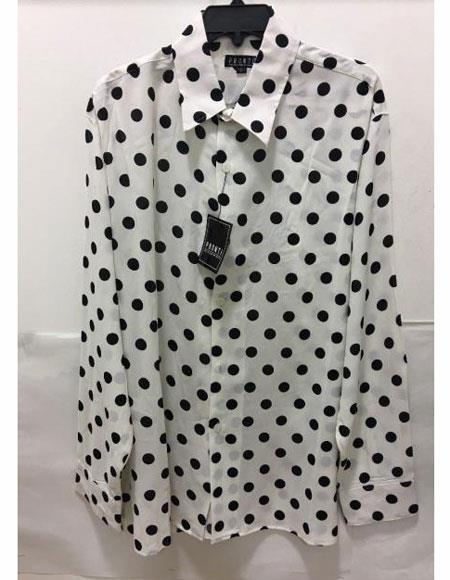 Mens Pronti Fashion Poker/ Polka Dot Long Sleeves Shirts