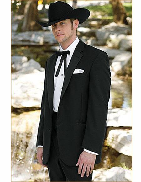 Mens Cowboy Black Suit Jacket perfect for wedding