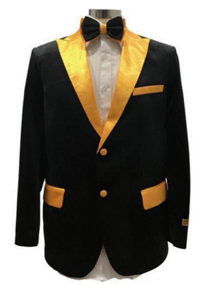 Gold Velvet Fabric Tuxedo