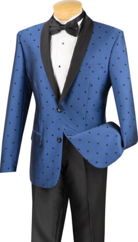Polka Dot Tuxedo Dinner Jacket Blazer Sport Coat