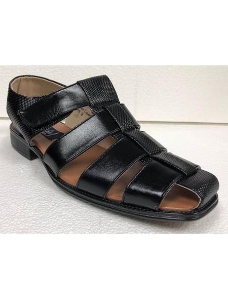 Dress Sandals Black Texture
