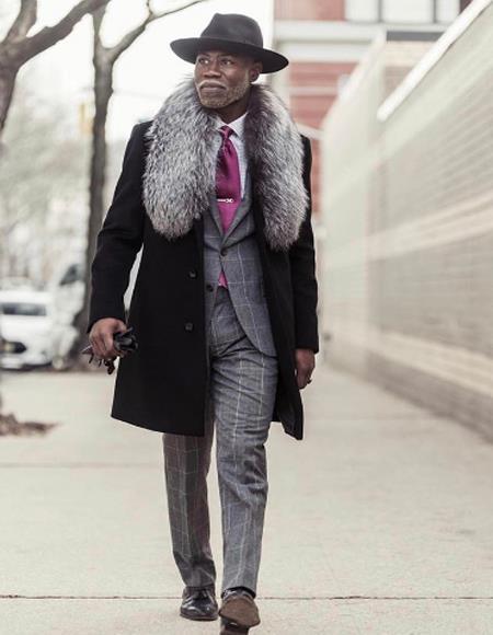 Length Fur Collar Wool