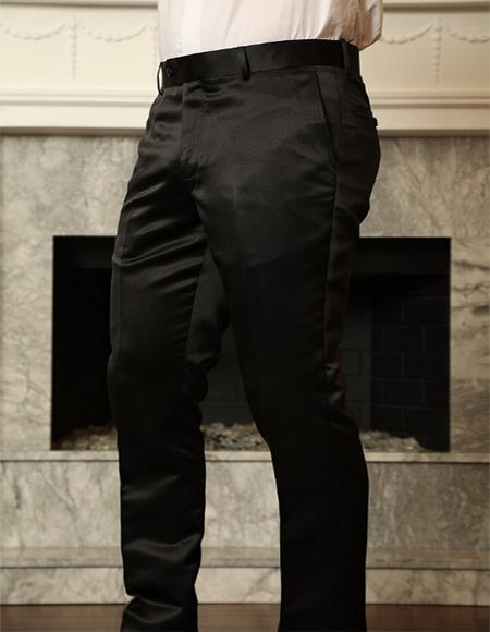 Sateen Slim Fit Pants