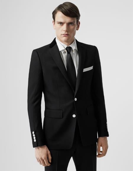 Suit With White Buttons