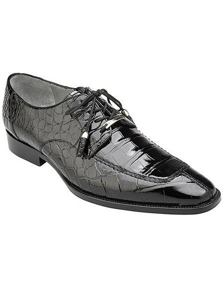 Split-toed Alligator Derby Shoes