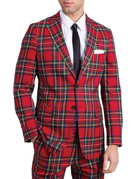 Tartan Suit Jacket Slim
