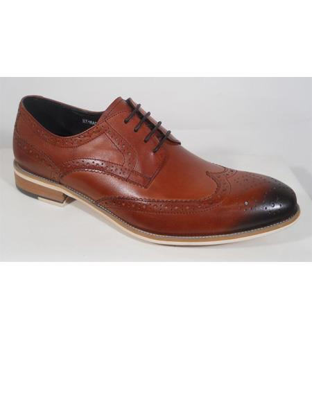 Premium Patterned Wing Tip