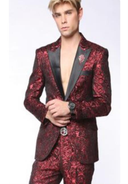 Breasted Peak Lapel Suit