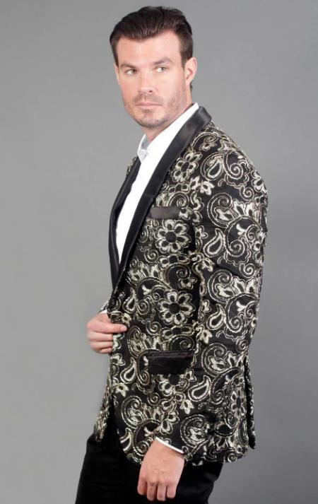 Cheap Priced Designer Fashion Dress Shawl Lapel Black Casual Blazer for Mens