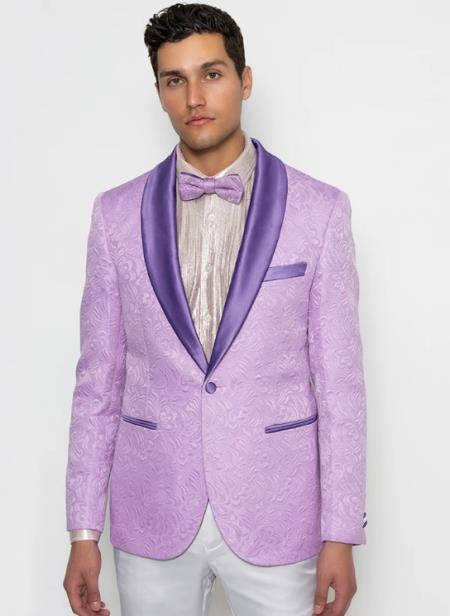 Mens Purple Patter Design Cheap Priced Designer Fashion Dress Casual Blazer On Sale Shawl Lapel Blazer