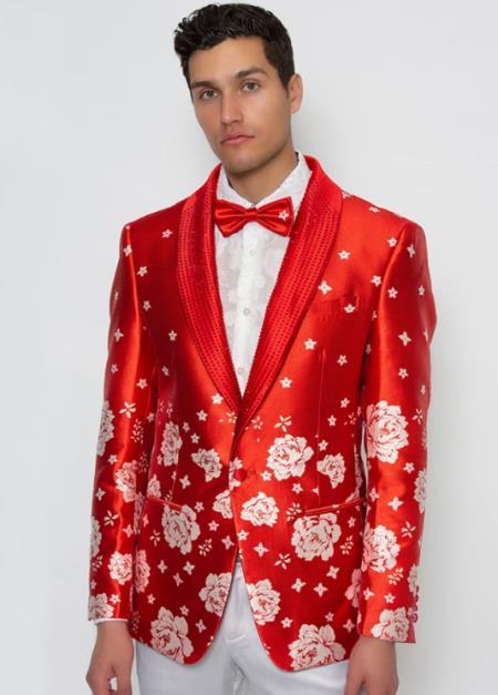 Mens Red Shawl Lapel Cheap Priced Designer Fashion Dress Casual Blazer On Sale