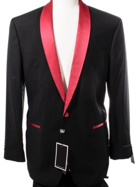 Red Lapel Dinner Jacket