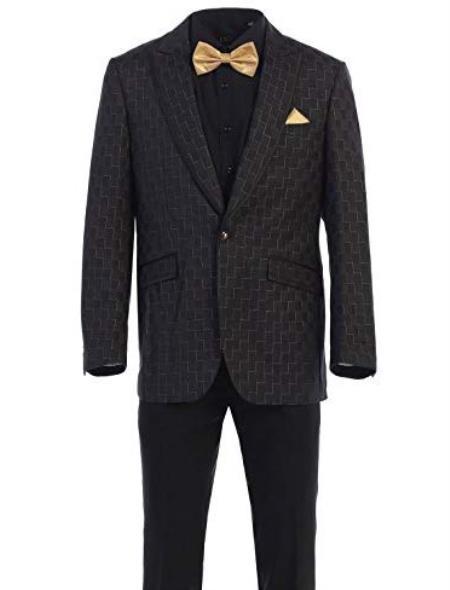 Mens Light Brown One Button Notch Lapel Fashion Sport Coat