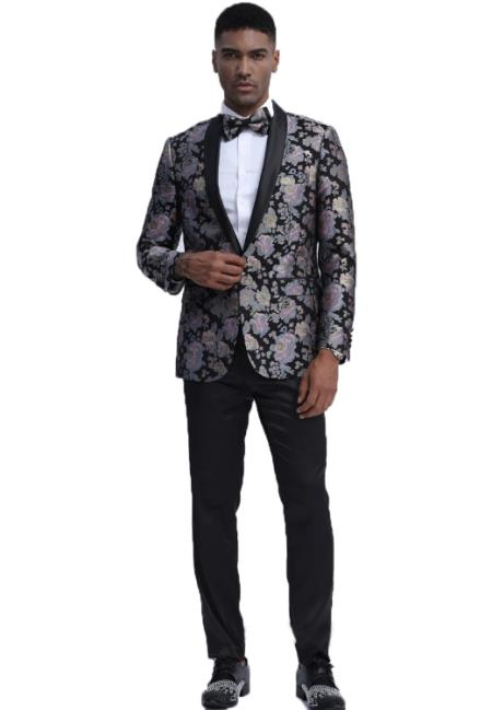 and Black Floral Pattern