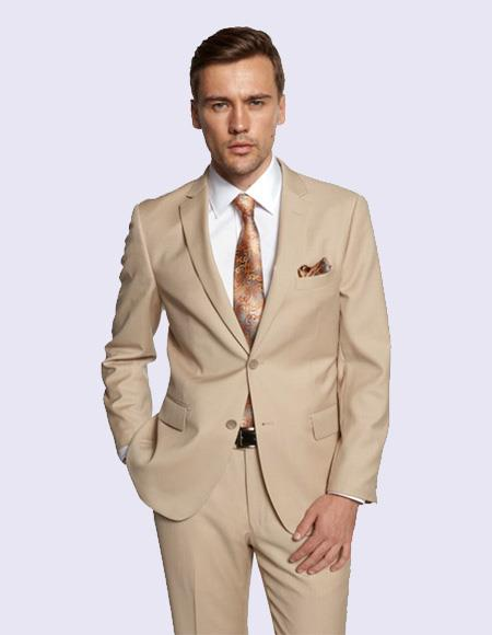 Men's New Beige Suit