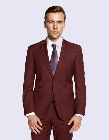 Burgandy Suit For Men's