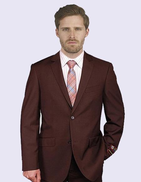 Men's Suit In Brown