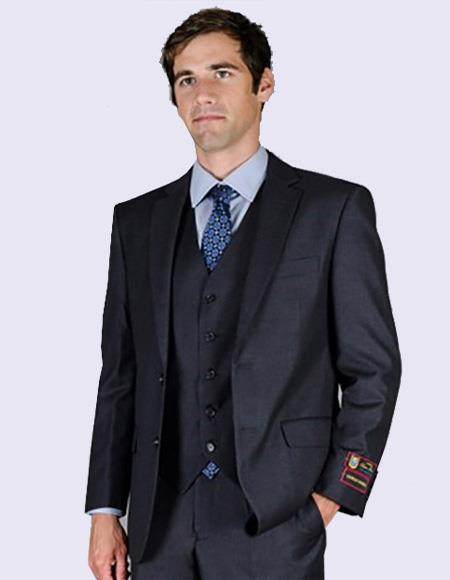 Charcoal Suit For Men's