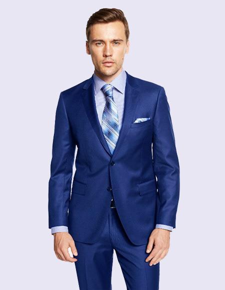 Men's French Blue Suit