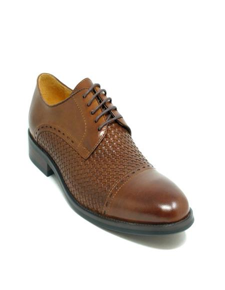 Toe Woven Leather Oxford