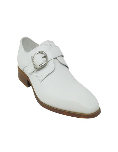 Monk Strap In White