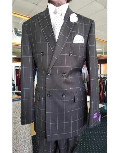 Mens Two Button Single Breasted Peak Lapel Jacket