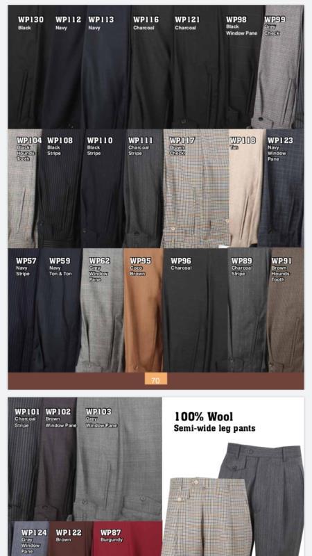 Pleat Mens Fashion Wide
