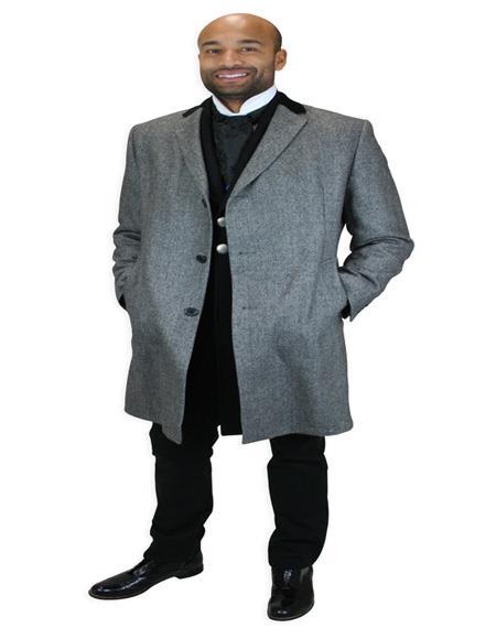 Nardoni Herringbone Chesterfield Overcoat