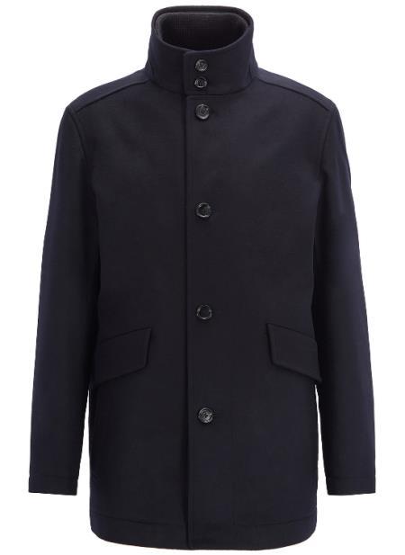 Car Coat Dark Blue