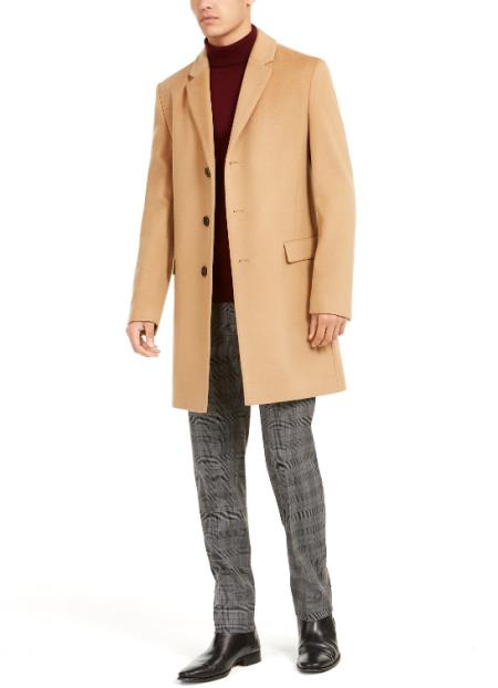 Breasted Notched Lapel Cashmere