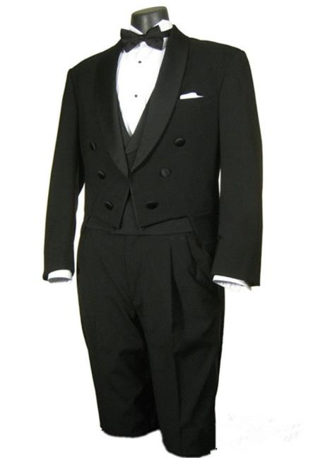 Button Black Tailcoat Full