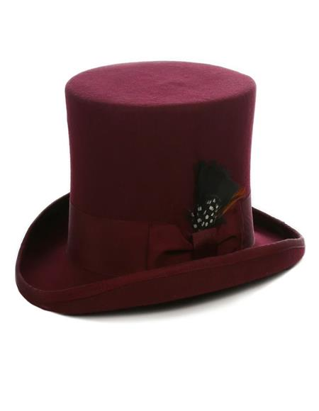 Burgundy Top Hat