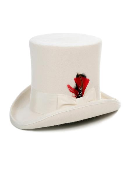 Off White Top Hat