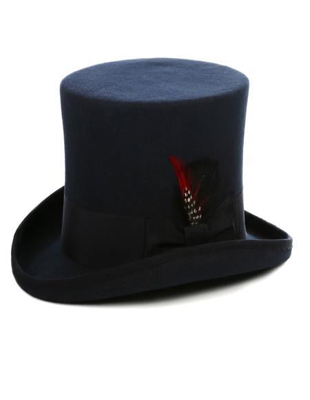 Navy Top Hat