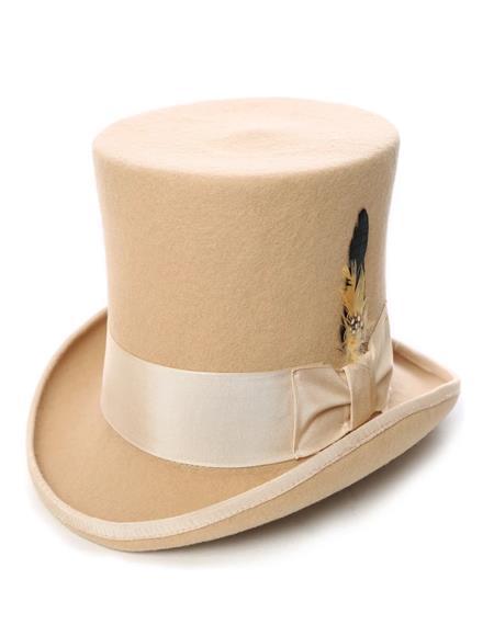 Beige Top Hat